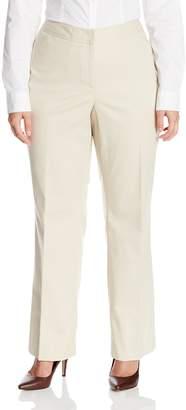 Rafaella Women's Plus-Size Straight Leg Pant