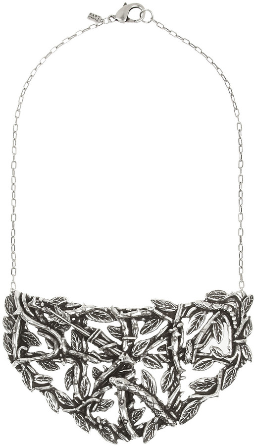 Pamela Love Maia antique silver-plated brass breastplate necklace