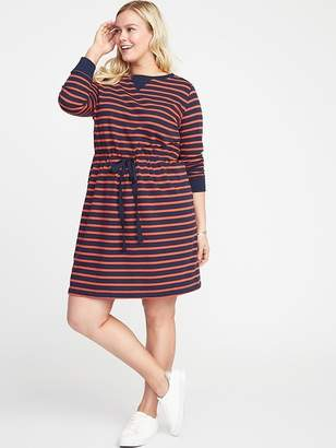 Old Navy Waist-Defined Plus-Size French-Terry Dress