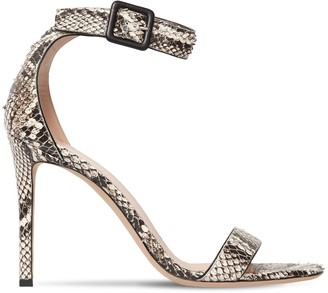 Giuseppe Zanotti Design 105mm Snake Print Leather Sandals
