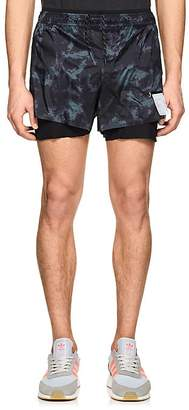 Satisfy Men's Tie-Dye-Print Short-Distance Running Shorts