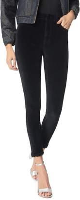 Sam Edelman The Stiletto Frayed Velvet Skinny Ankle Pants