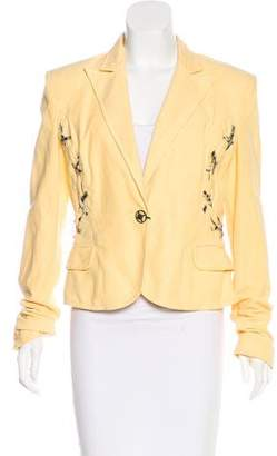 Just Cavalli Peak-Lapel Button-Up Blazer w/ Tags
