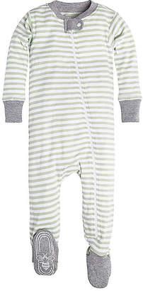 Burt's Bees Baby Mini Stripe Organic Zip Front Footed Pajamas