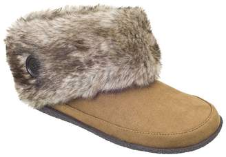 Daniel Green Bootie Slippers with Faux Collar -Odessa
