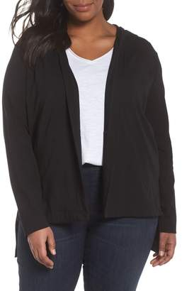 Eileen Fisher Stretch Organic Cotton Hooded Cardigan