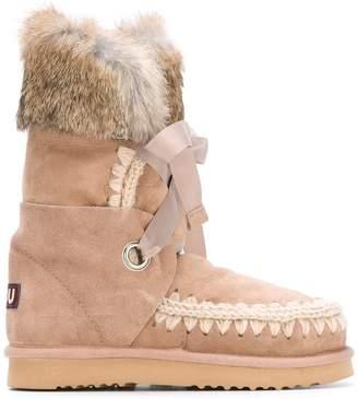 Mou 'Eskimo' rabbit fur trim boots