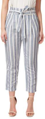 Dex Striped Belted Cropped Pants
