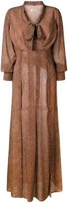 Twin-Set leopard printed maxi dress