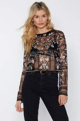 Nasty Gal You're Sew Right Embroidered Top