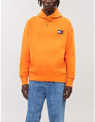 Tommy Jeans Logo-appliqué cotton-jersey hoody