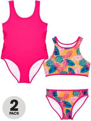 Very Girls Crochet Tropical Swimwear Multipack