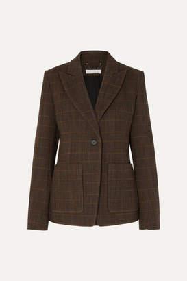 Chloé Checked Wool-blend Blazer - Brown