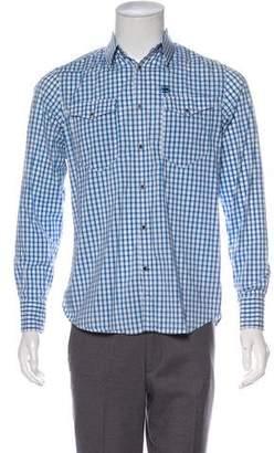 G Star Woven Button-Up Shirt