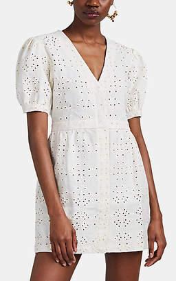 SIR the Label Women's Cherie Linen Eyelet Minidress - White