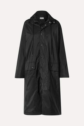 Balenciaga Opera Oversized Printed Reflective Shell Raincoat - Black