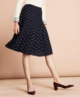 622363024b Brooks Brothers Polka-Dot Crepe Accordion-Pleated Wrap Skirt