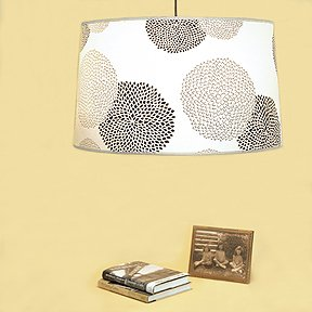 Lights Up! Weegee Pendant Lamp With Silk Shade