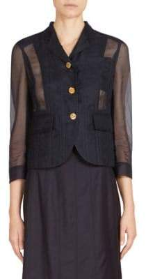Thom Browne Tulle Lace-Up Blazer