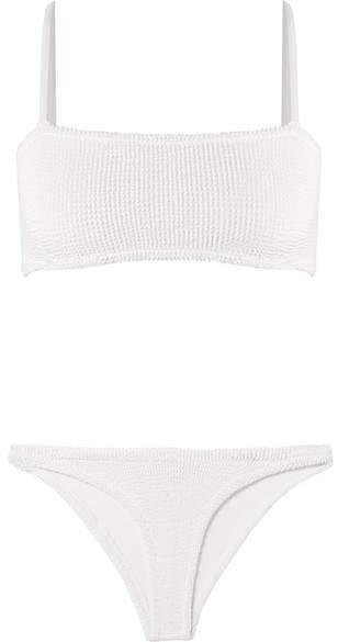 Hunza G - Seersucker Bikini - White