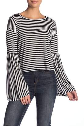Vintage Havana Striped Bell Sleeve Shirt