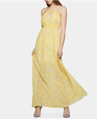 8b4a08350f2 BCBGeneration Lace-Trim Floral-Print Maxi Dress