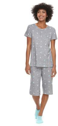 Croft & Barrow Women's Short Sleeve Novelty Pajama Set