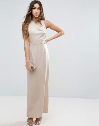 Asos Design Open Side Square Neck Maxi Dress