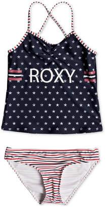 Roxy 2-Pc. Stars & Stripes Tankini Swim Suit, Big Girls