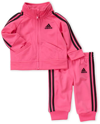 adidas Newborn Girls) Two-Piece Track Jacket & Jogger Pants Set