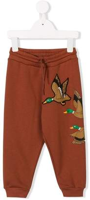 Mini Rodini duck embroidered track pants