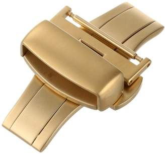 Hadley-Roma 20-mm IP Gold-Plated Push Button Deployant Clasp