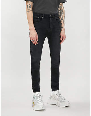 The Kooples Zipped-cuff distressed mid-rise skinny jeans