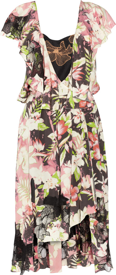 Vanessa Bruno Printed silk wrap dress