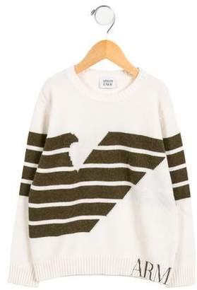 Armani Junior Boys' Wool-Blend Logo Sweater