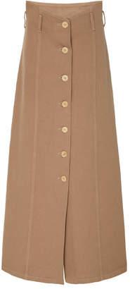 Nanushka Roja A-Line Denim Midi Skirt