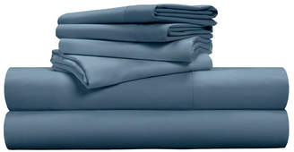 Pillow Guy Luxe Soft & Smooth Tencel 6-Piece Sheet Set - Cadet Blue / King Size Bedding
