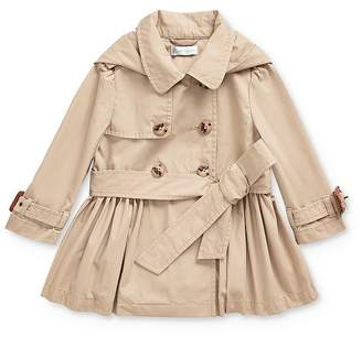 Ralph Lauren Girls' Hooded Trench Coat - Baby