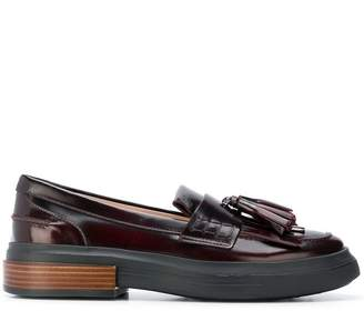 Tod's tasseled flatform loafers
