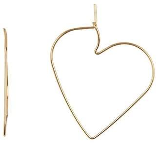 Rebecca Minkoff Love Hoop Heart Earrings