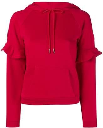 Armani Exchange ruffled hoodie