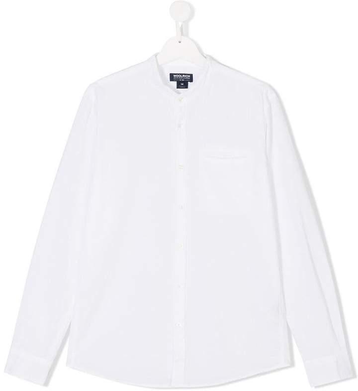 Woolrich Kids mandarin collar shirt