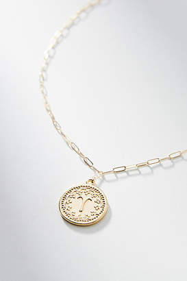 Tess + Tricia Zodiac 24K Gold-Plated Coin Necklace
