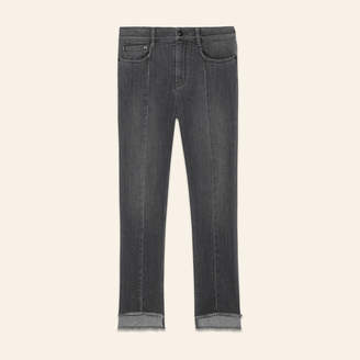 Maje Asymmetric hem jeans