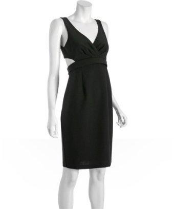 Black Halo black gabardine 'Jackie O' cut-out dress