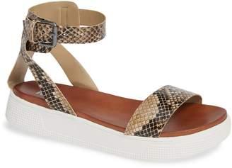 Mia Ellen-S Snake Print Platform Sandal