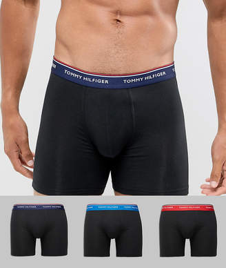Tommy Hilfiger 3 pack boxer brief with contrast waistband in black