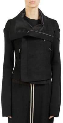 Rick Owens Textured Biker Jacket