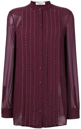 Valentino embellished pleated blouse