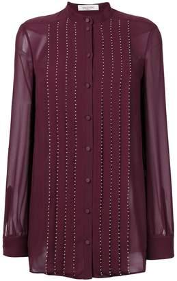 Valentino embellished pleated blouse